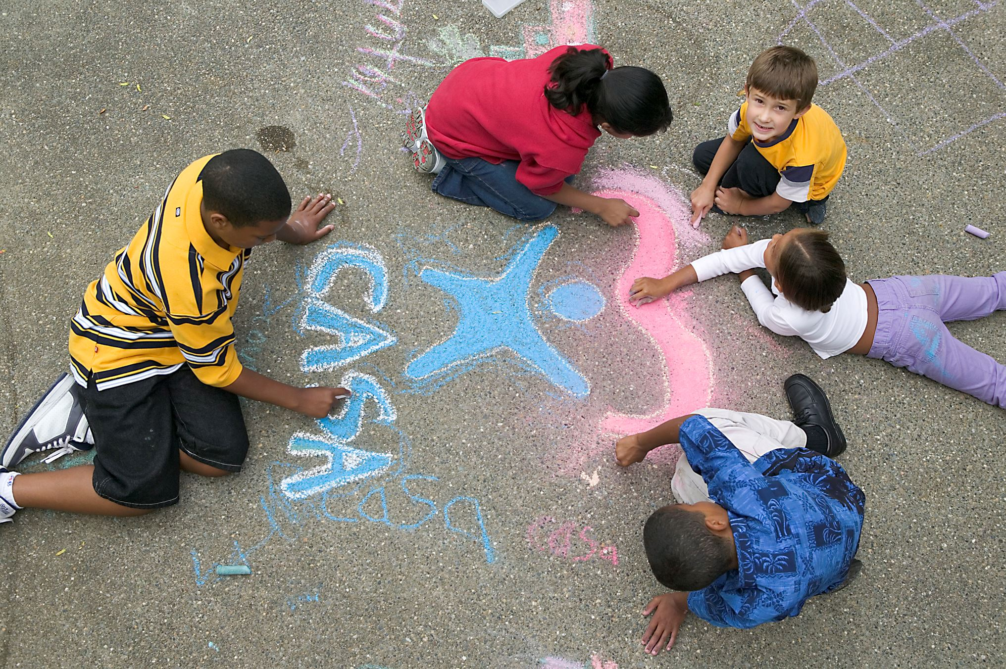 CASA logo - Children with Chalk