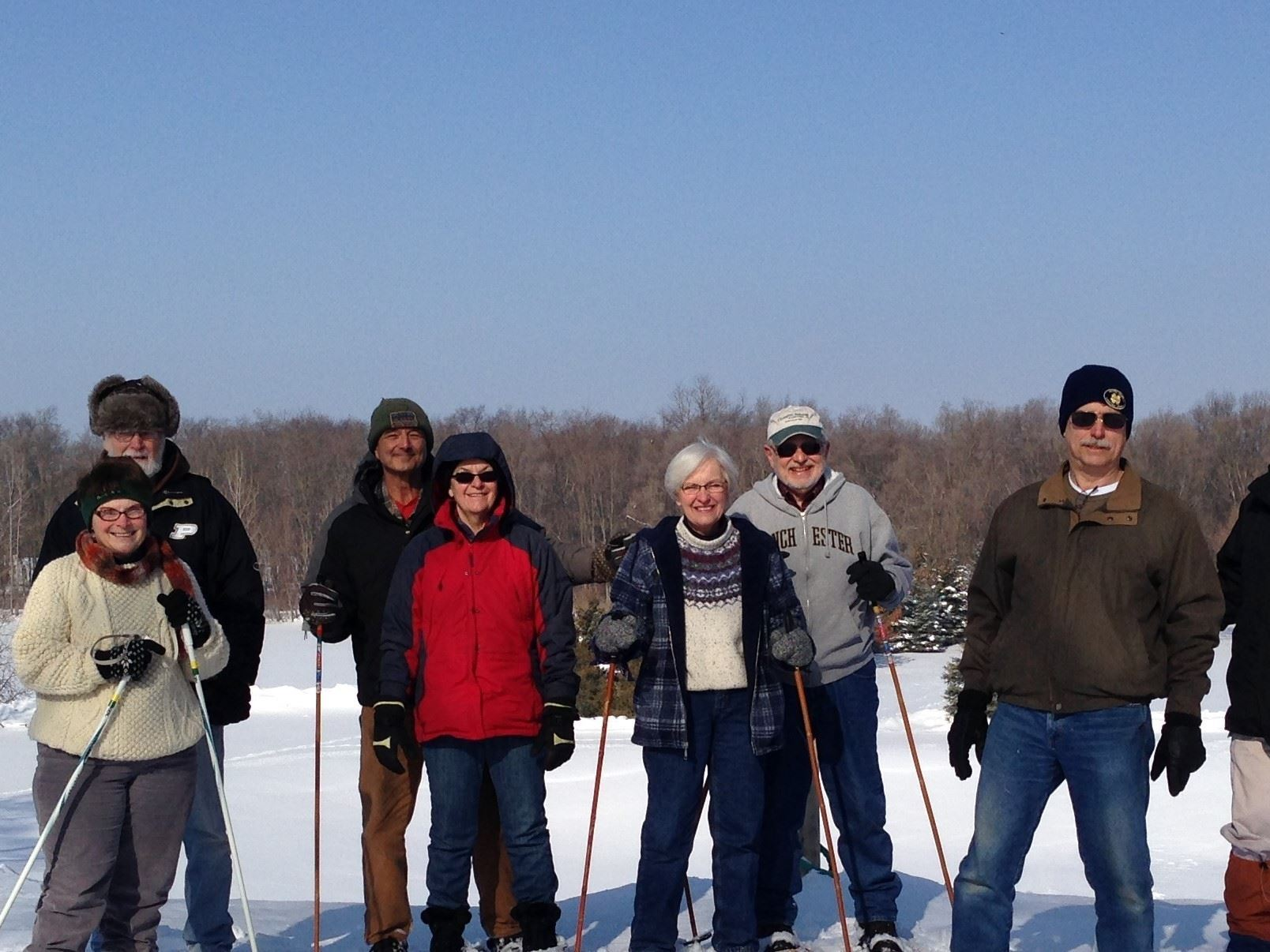 Boomers enjoy outdoor exercise in snow